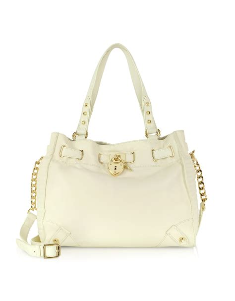 Couture Daydreamer Tote by Couture Robertson Leather Daydreamer Tote In Beige