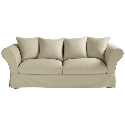 Organic Sofas by Green Design Organic Cotton 3 4 Seater Sofa In Mastic Roma