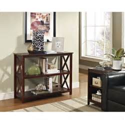 console sofa table 3 shelf accent display bookcase in