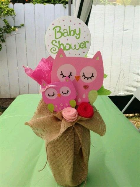 Pin By Lisa Mccrary On Baby Shower Ideas Pinterest Owl Themed Centerpieces