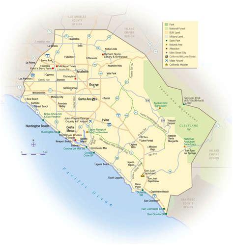 orange county california map map orange county my blog