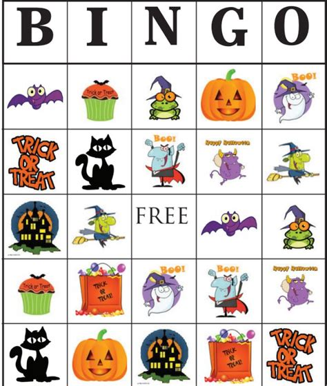 printable thanksgiving bingo cards free 21 sets of free printable halloween bingo cards