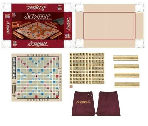 barbie doll house set games miniature printables scrabble board game mini toys pinterest game board