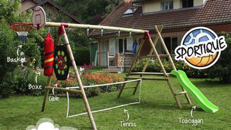 fabriquer portique balancoire ides de comment fabriquer un portique en bois galerie dimages