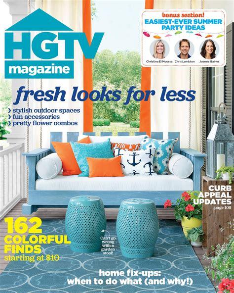 home design magazine covers hgtv magazine july august 2015 hgtv