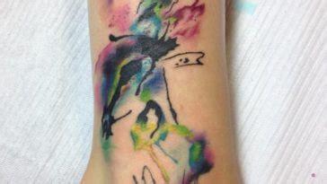 watercolor tattoo vermont watercolor lilo stitch ohana watercolor
