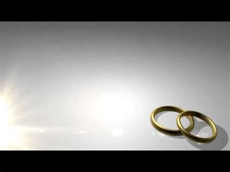 wedding rings in light motion background