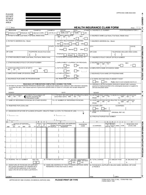 Sample Executive Summary Resume by Health Care Claim Form 2 Free Templates In Pdf Word