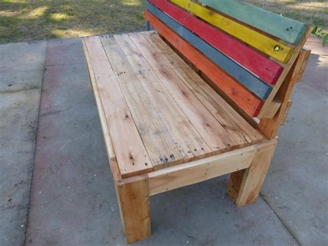 how to make a bench with a back pallet outdoor bench with a comfort back