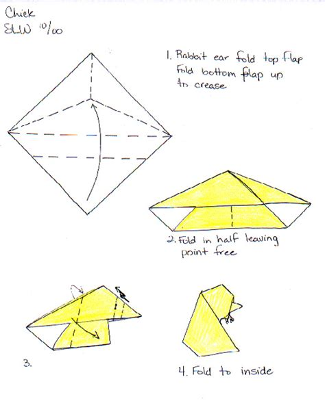 Origami Resource - and egg by wooden