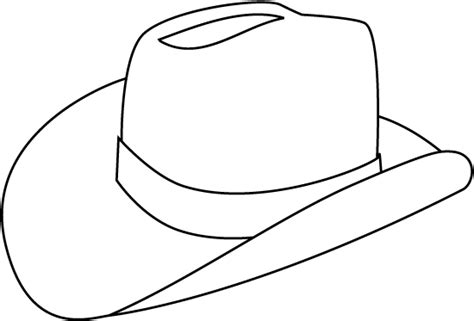 Cowboy Hat Drawing Clipart Best Hat To Color