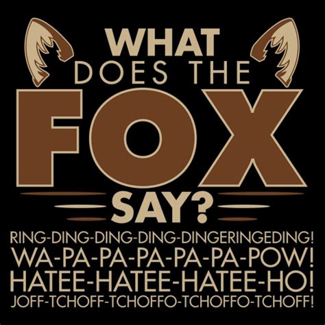 printable lyrics what does the fox say what does the fox say t shirt