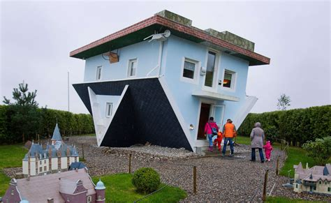 upside down house nov 5 photo brief an upside down house volcano in