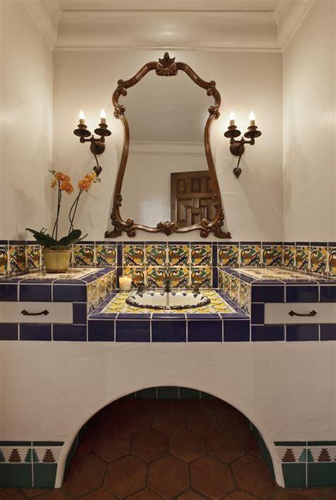 decorate  bathroom  mexican style interior