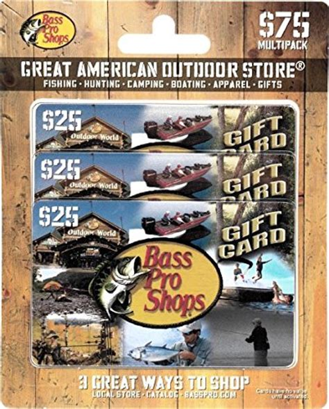 Where Can I Buy Bass Pro Shop Gift Cards - bass pro shops gift cards multipack of 3 25 apparel accessories shoes outdoor