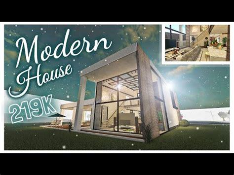 modern house house build bloxburg youtube
