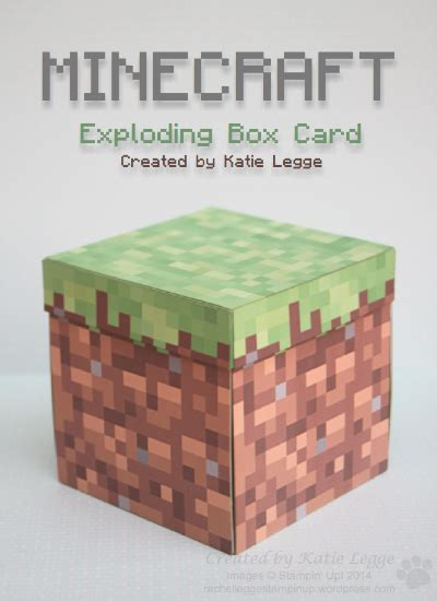 How To Make Explosion Box Handmade Birthday Card - minecraft exploding box card legge independent