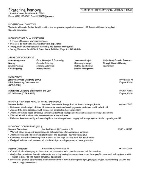 Finance Resume Objective by Finance Resume Objective Free Resume Templates 2018