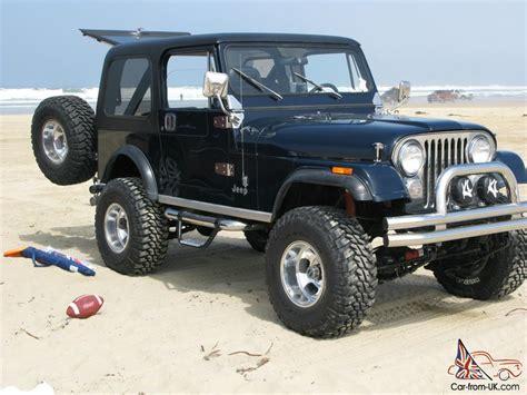 dark blue jeep 1982 cj7 lifted dark blue extra clean
