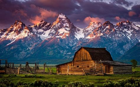 Cabin Mountains by Mountain Log Cabin Wallpaper 17767