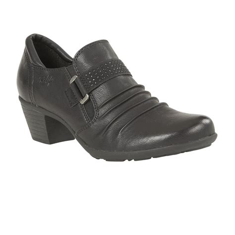 lotus shoes lotus relife shannyn black faux leather heeled shoes