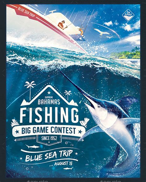 Fishing Templates by 20 Fishing Flyer Templates Free Premium