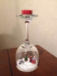 Inexpensive Centerpiece Ideas Wine Glass Snow Globes Craft Projects For Every Fan
