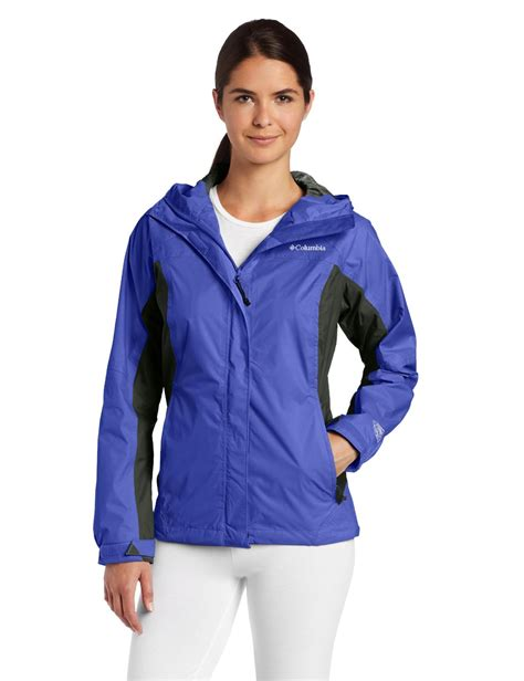 women s columbia women s arcadia rain jacket light grape