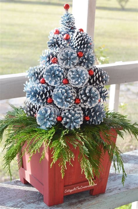 how to make a christmas tree out of dollar bills how to make pine cone trees cottage at the crossroads