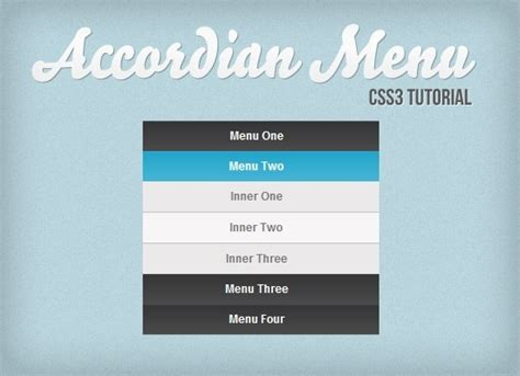 tutorial css menu vertical 50 useful css3 tutorials to enhance your skills