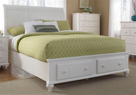 white sleigh bed hayden place white queen storage sleigh bed from broyhill