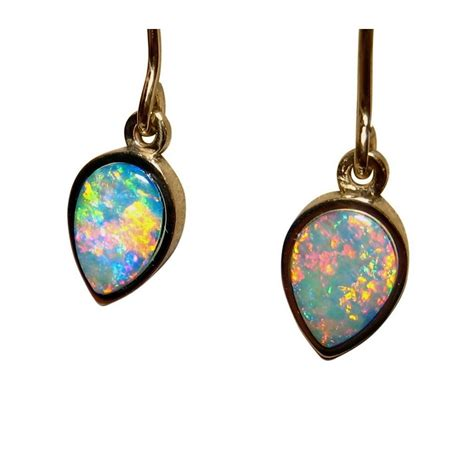 real blue opal real opal earrings genuine opal earrings groupon goods