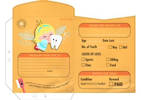 printable tooth fairy envelope southern new hshire orthodontics and children s dentistry