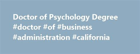 Mba Degree Requirements In California by 25 Best Ideas About Introduction To Psychology On