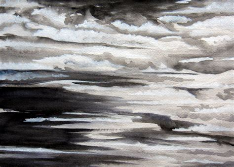 working in black and white watercolor leslie white