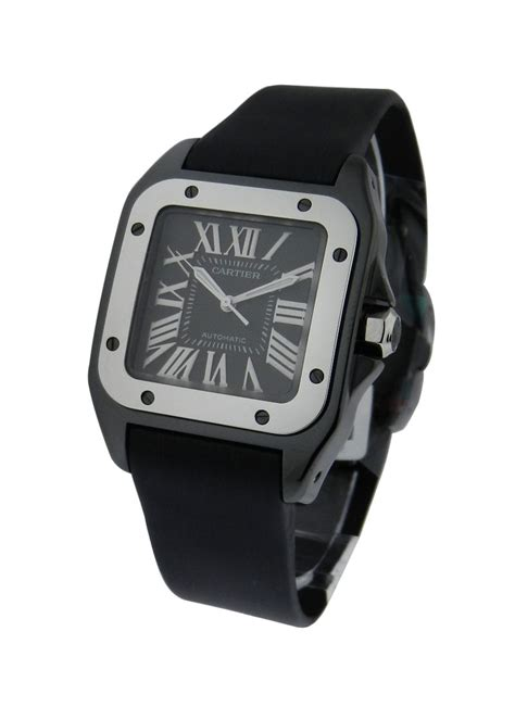 cartier santos  small size black pvd essential watches