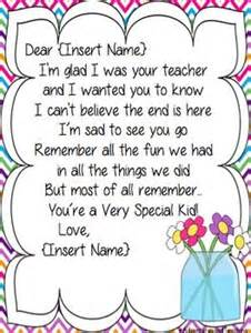 Thank You Letter To Teacher At The End Of Year 25 Best Ideas About Letter To Students On Pinterest