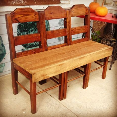 repurposed bench repurposed chairs and old barn wood made into a fabulous