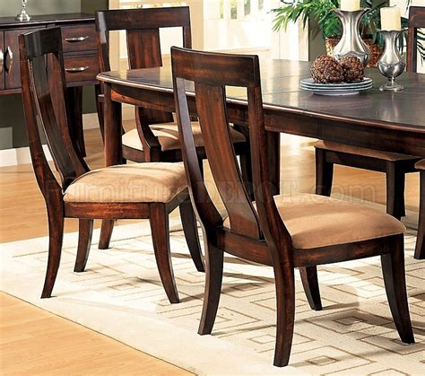 distressed dining room sets distressed cherry formal dining room set w microfiber seats