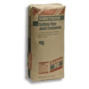 home depot drywall mud sheetrock brand 25 lb durabond 90 setting type joint