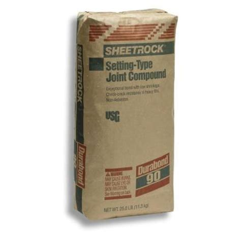 sheetrock brand 25 lb durabond 90 setting type joint