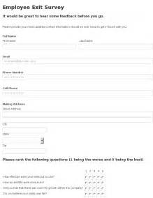 Exit Forms Templates by Employee Exit Form Template Employee Termination Notice