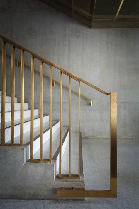 contemporary banisters and handrails brass handrail modern entrance foyer