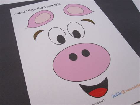 paper plate mask template paper pig mask template pictures to pin on