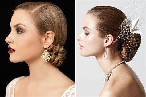 Vintage Bridal Updos by Sleek Bridal Updos Vintage Inspired