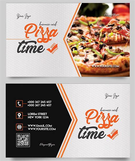 pizza business card template free business card food templates gallery card design