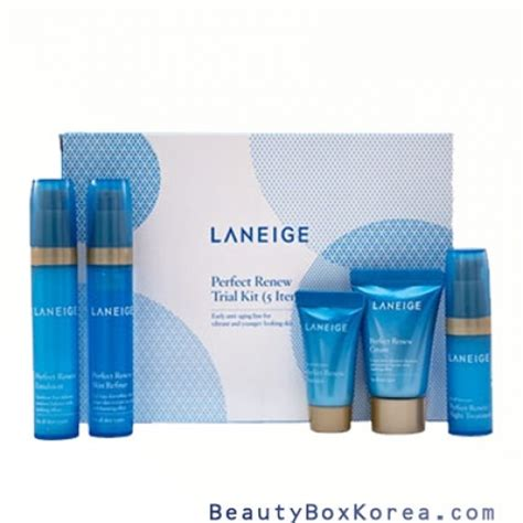 Ready Laneige Renew Skin Refiner Trial Travel Kit box korea mini laneige renew trial kit 5 items best price and fast shipping
