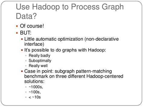 pattern matching hadoop hadoop and graph data management challenges and opportunities