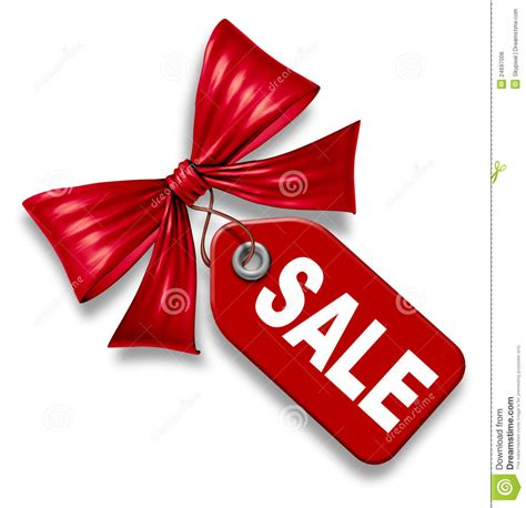 Ribbon Gift Card Price - sale price tag with red ribbon bow tie royalty free stock image image 24697006