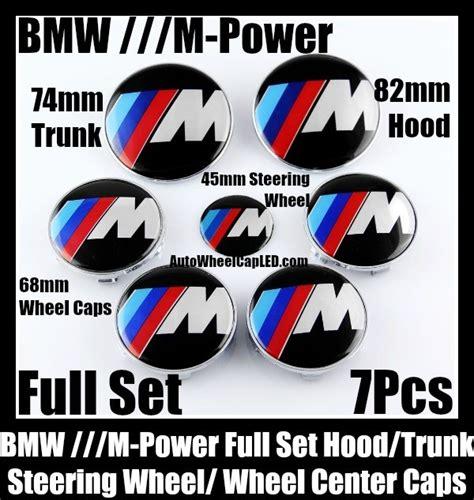 Emblem Stir Bmw M Power 45mm bmw m power wheel center caps 68mm steering horn 45mm